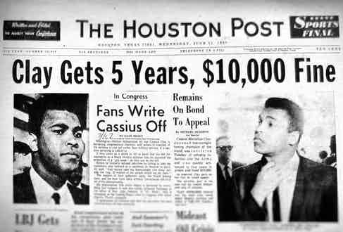Muhammad Ali suffered serious consequences when he refused to fight during the Vietnam War, 1961.
