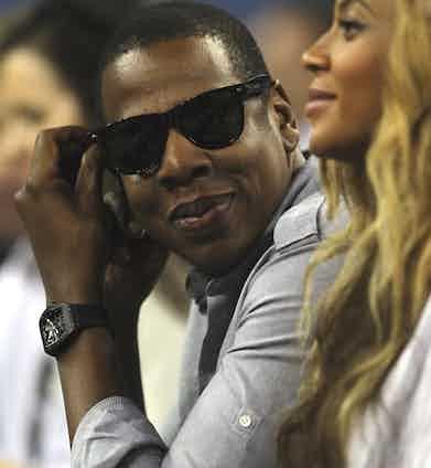 Jay-Z sports an RM 027.