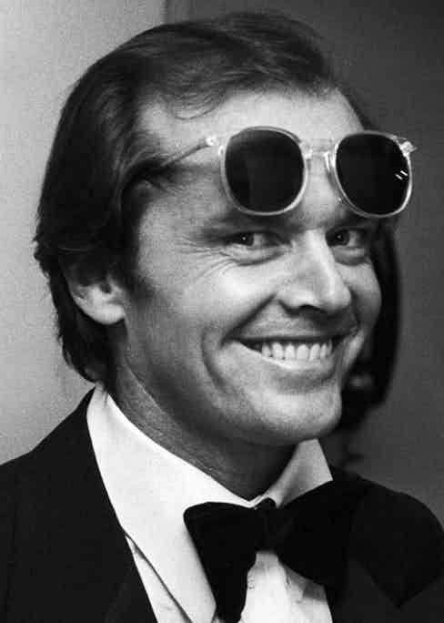 Jack Nicholson at a black tie event in 1978 by Ron Galella.