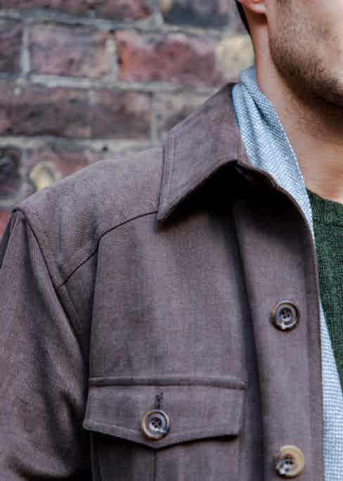 Anderson & Sheppard's chocolate brown travel jacket. Photograph by James Munro.