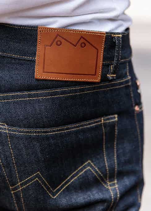 Blackhorse's rear pocket arcuate stitching mimics their brand logo, which can be seen on their leather patches. Photo by James Munro.
