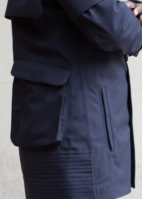 Utilitarian pockets on Norwegian Rain's coats make for a functional wear.
