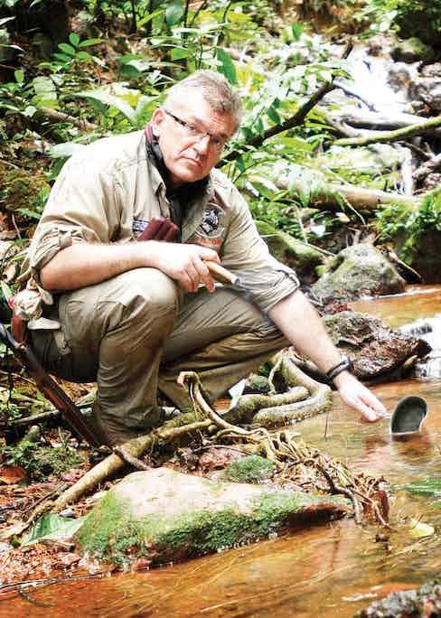 Founder Patrick Fallon testing his pocket humidors.