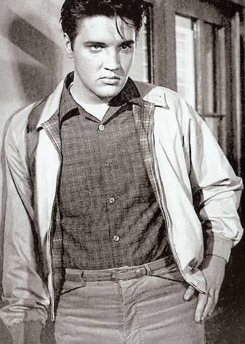 Elvis Presley wearing a Baracuta G9 in King Creole, 1958.