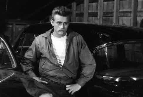 Dean's famous Harrington in Rebel Without a Cause, 1955. Photo by Warner Bros/Kobal/REX/Shutterstock.