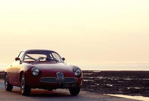 Alfa Romeo Guilia Zagato, 1960. Photo by Martyn Goddard/REX/Shutterstock.