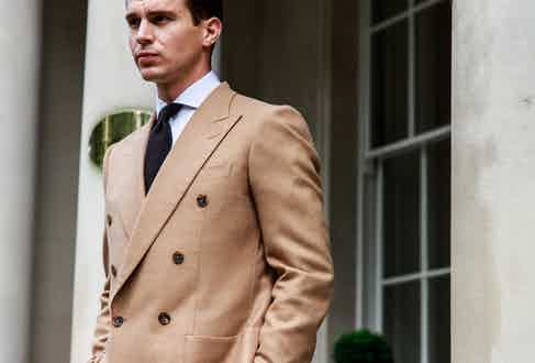 Chester Barrie's Kingly style is rendered in cashmere and camel hair.