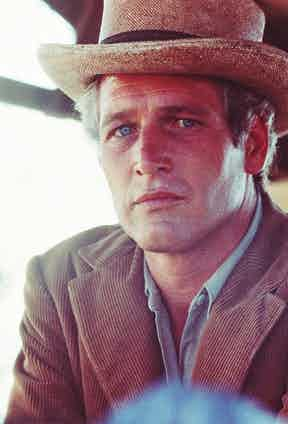 Paul Newman playing a horse-riding, bank-robbing outlaw in Butch Cassidy & The Sundance Kid, 1969. Corduroy was often associated with country attire and the working class, but Newman gave it a rugged, masculine edge.