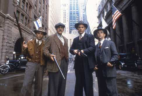 Andy Garcia, Sean Connery, Kevin Costner and Charles Martin Smith in The Untouchables, 1987. Photo by Paramount/Kobal/REX/Shutterstock.