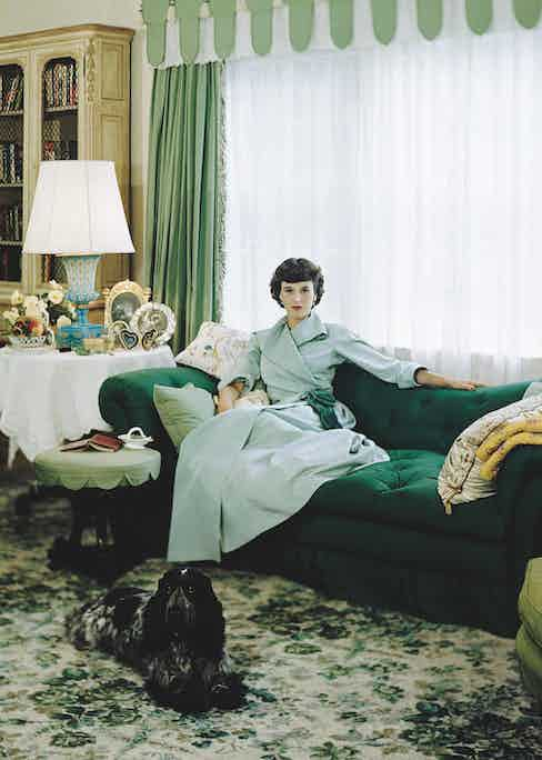 Babe Paley reclines in a smart drawing room, circa 1948. Photo by Condé Nast Archive/Corbis.