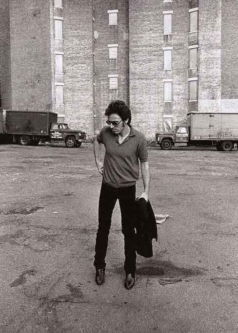 The singer photographed in New York, circa 1980. Photograph by Joel Bernstein.