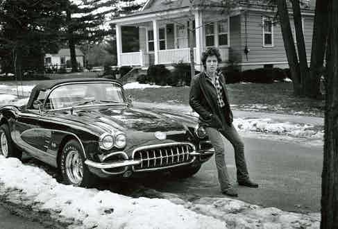 Frank Stefanko shot this iconic photograph of the singer in Haddonfield New Jersey, 1978.