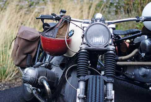 A classic BMW R-Series motorcycle at the DGR in 2016. Photograph by Justin Hast.