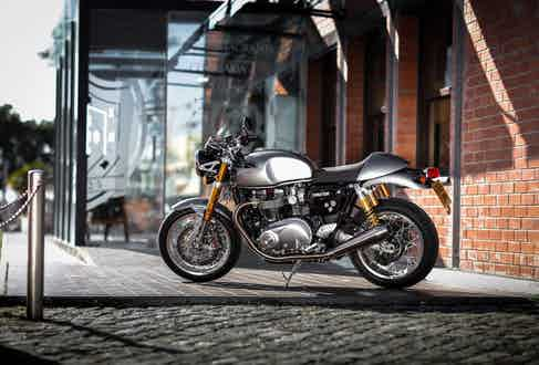 A Triumph Thruxton R customised by South Garage Motor Co. will be going under the hammer.