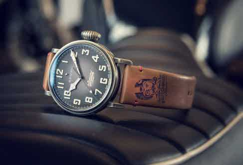 Renowned watchmakers Zenith will be donating a trio of prizes for the auction; a Pilot Ton-Up DGR watch (pictured above), a manufacture tour and lunch with the brand's new CEO, Julien Tornare.
