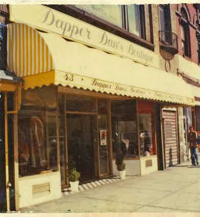 The designer's haberdasher-come-boutique on East 125th Street, New York was opened in 1982.