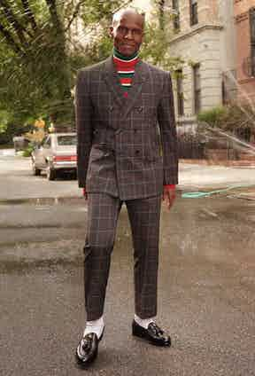 Dapper Dan photographed earlier this year on the streets of Harlem, New York for his collaborative campaign with Gucci. Photo by Glen Luchford/Gucci.