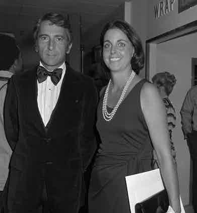 With his wife Nan Talese at a party for Halston at Bloomingdale's, New York, 1976. Photo by Nick Machalaba/Penske Media/REX/Shutterstock.