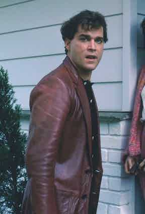 During a particularly violent scene, Henry Hill wears a leather blazer in oxblood red, a colour that inevitably parallels the subsequent anger and bloodshed that follows.
