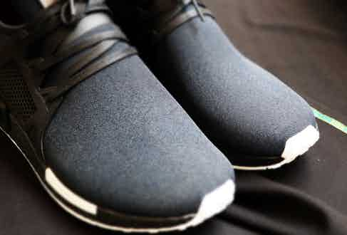 The white detail on the mid sole is designed to mimic the cuff of a shirt beneath a dinner suit.