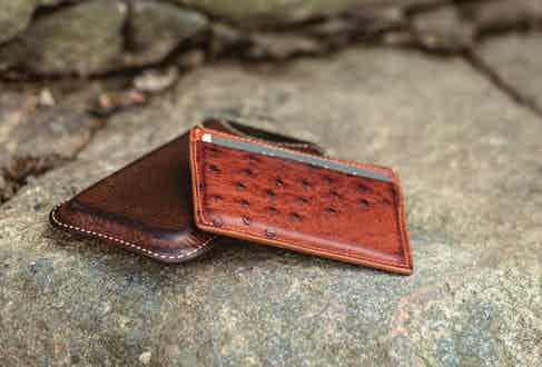 """""""My credit card case is vintage leather and was given to me as a gift about fifteen years ago. It has only aged with beauty."""""""