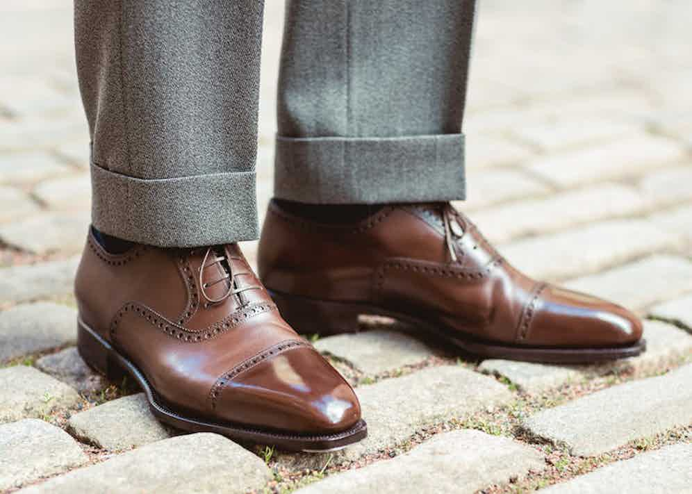 """""""My shoes are made-to-order from Stefano Bemer. They are made in their classic C last and in a brown meleze calf leather."""""""
