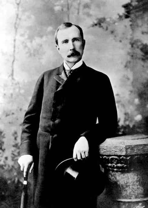 The ambitious and business savvy John Rockefeller Senior aged 45. Photograph by Everett Collection Inc/Alamy Stock Photo.