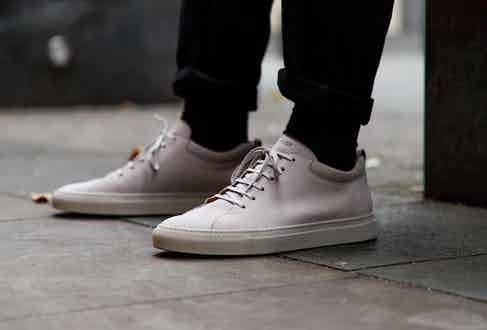 C.QP Tarmac sneakers in grey nubuck. Photograph by James Munro.