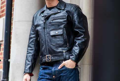The black Daytona leather jacket. Photograph by James Munro.