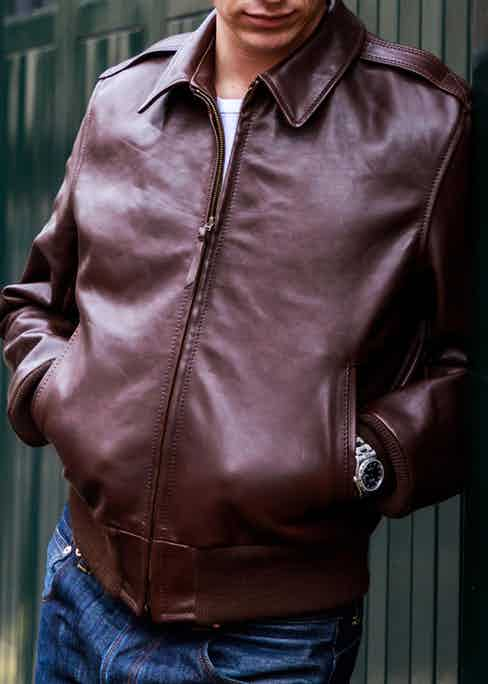 The Happy Days jacket is inspired by that worn by Fonzie. Photograph by James Munro.
