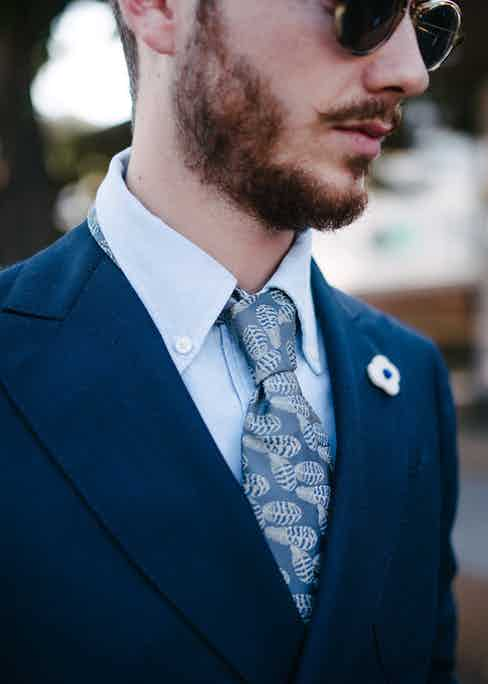 All of Augustus Hare's silk ties are made in England.