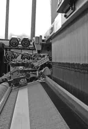 A loom used for weaving silk fabric.