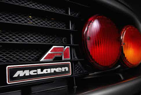 The iconic twin tail lights of the F1.