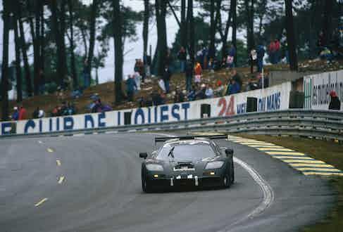 1995 Le Mans 24 hours. The F1 pictured, driven by J.J. Lehto/Yannick Dalmas/Masanori Sekiya, came first.