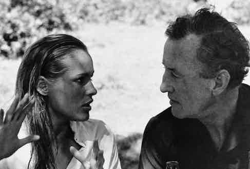 Listening intently to the beautiful Ursula Andress who played Honey Rider in Dr No, 1962. He wrote this 6th novel in early 1957 and it was the first to be transformed onto the big screen.