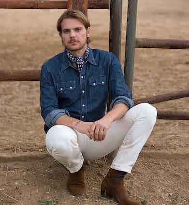 Alessandro Pagliacci in Barbanera's western-inspired denim shirt.