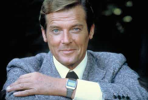 In Moonraker, Bond's Seiko M354 Memory Bank Calendar is equipped with explosives and a remote detonator.