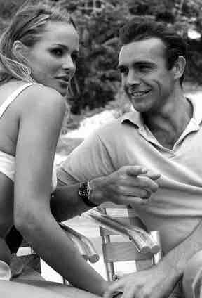 Sean Connery wears a Rolex Submariner reference 6538 in Dr. No, 1962.