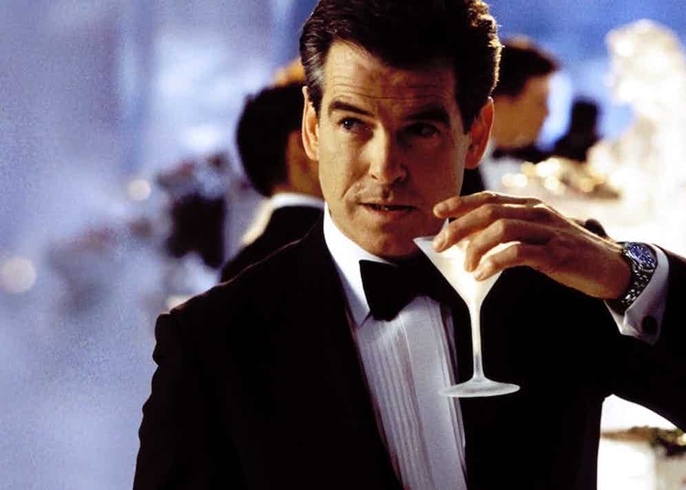Pierce Brosnan wears Omega's Seamaster Diver 300M, which has a detonator pin and a laser in the watch's crown in Die Another Day, 2002.