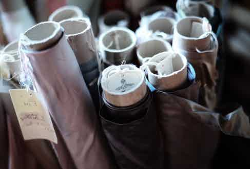 Rolls of cloth from Antico Setificio Fiorentino.