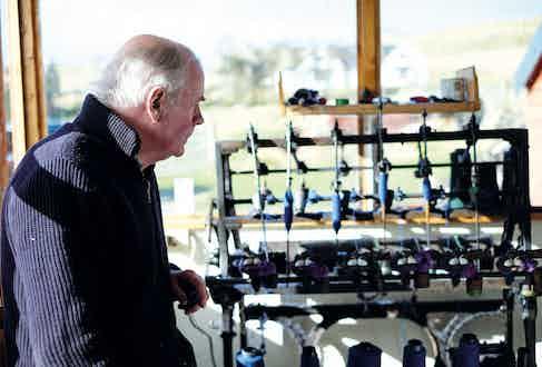 Norman Mackenzie, one of HTH's veteran weavers.