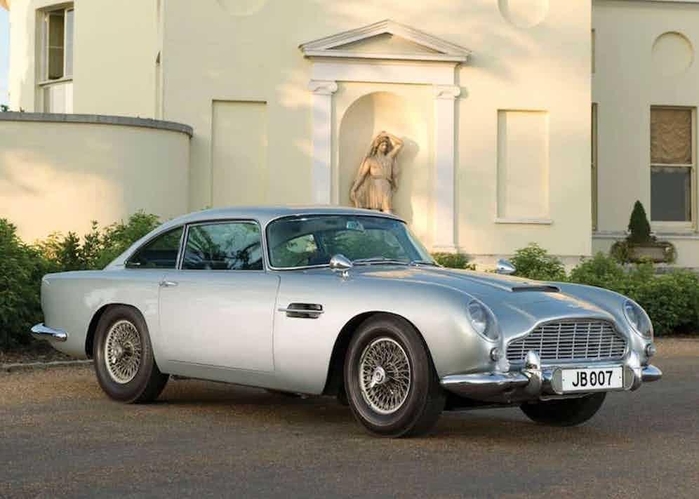 A 1964 Aston Martin DB5 James Bond Edition.