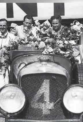 Barnato and Kidston shortly after winning the 1930 Le Mans.
