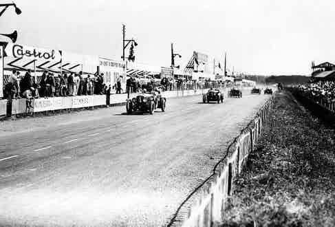 Barnato leading the pack at the 1930 Le Mans race. Photo by LAT Photographic/REX/Shutterstock.