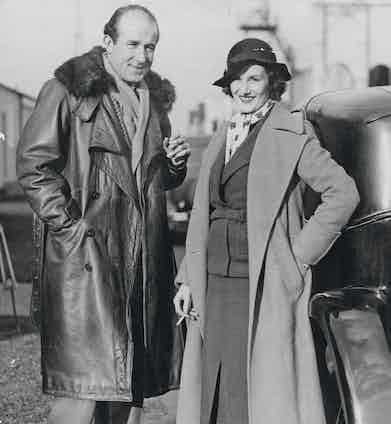 Bernard Rubin with his fiancée Audrey Simpson, 1934. Photo by ANL/REX/Shutterstock.