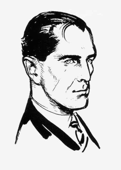 Ian Fleming's original illustration of his fictional character James Bond.