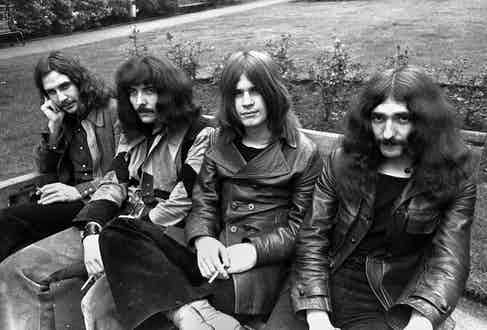 Popular theory suggests that heavy metal began with bands such as Black Sabbath, pictured here in 1970. Photograph by Chris Walter.