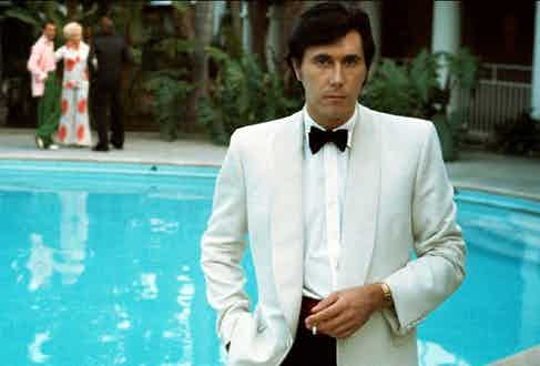 Bryan Ferry on the cover of his second solo album 'Another Time, Another Place', 1974.