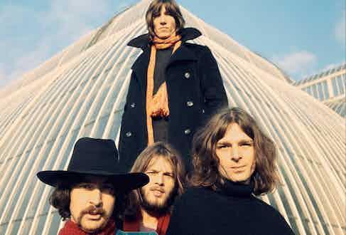 Rock behemoth Pink Floyd at Kew Gardens, 1969. Photograph by Storm Thorgerson.