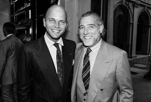 Luca Rubinacci and Alessandro Squarzi. Photograph by Pietro Baroni.